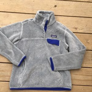 Patagonia Retool sweater small grey and blue